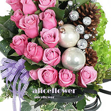 Christmas Gift-Purple Butterfly. This ultimate gift arrives in one large gift box to send your warmest season´s greetings across the miles.!-Alice Florist Taipei.