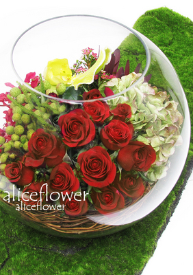 Valentine Arranged flowers,Christmas Rose