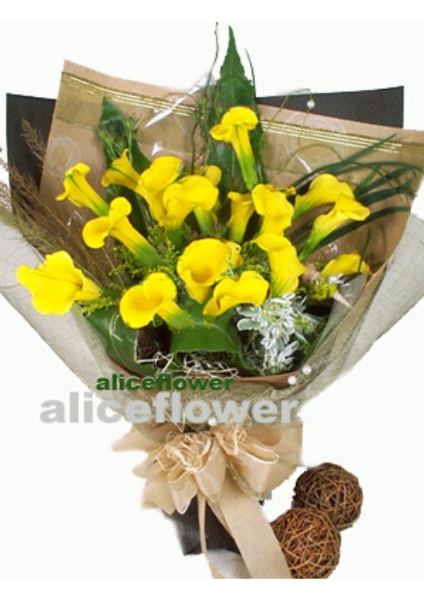 Graduate Bouquet,Yellow Calla lily cheer