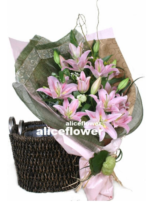 Get Well Flowers,Pink Lilies