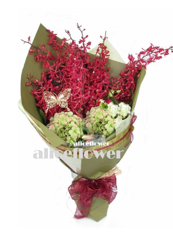 Autumn Flowers,Red coral bouquet