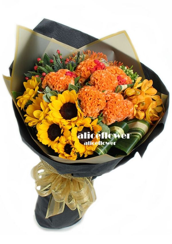 Autumn Flowers,Orange sunshine
