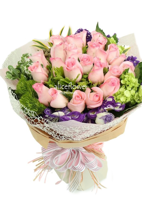 Rose Bouquet,Meteor Garden Imported Pink Roses