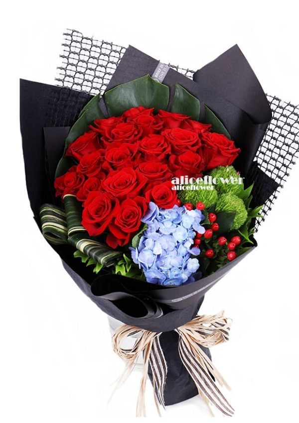 Chinese Valentine´s Day,Love Face Red Roses
