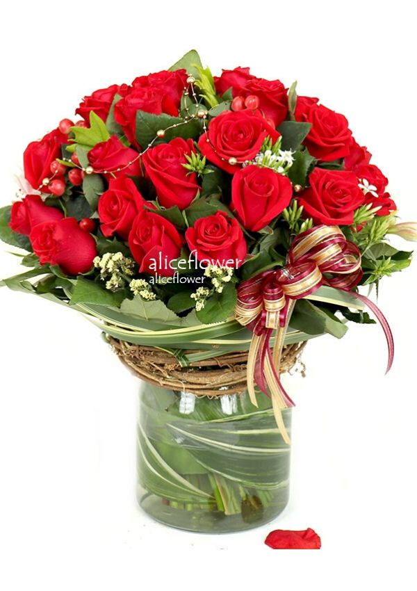 Imported Rose Bouquets,Red Actress Imported Roses