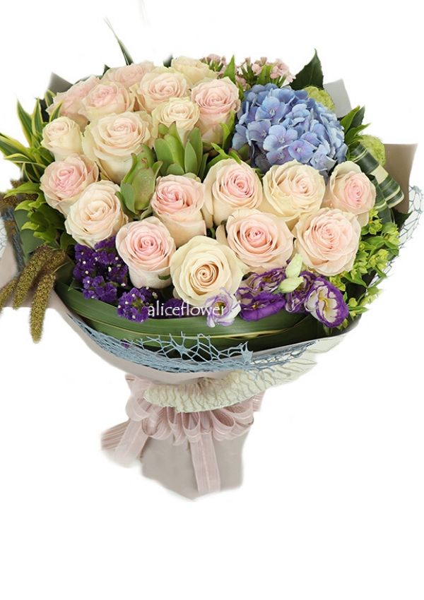 Autumn Flowers,Flori goddess pink rose bouquet