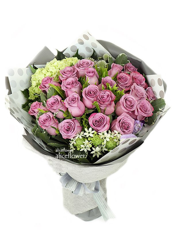 Imported Rose Bouquets,Venus Love Imported Violet Roses