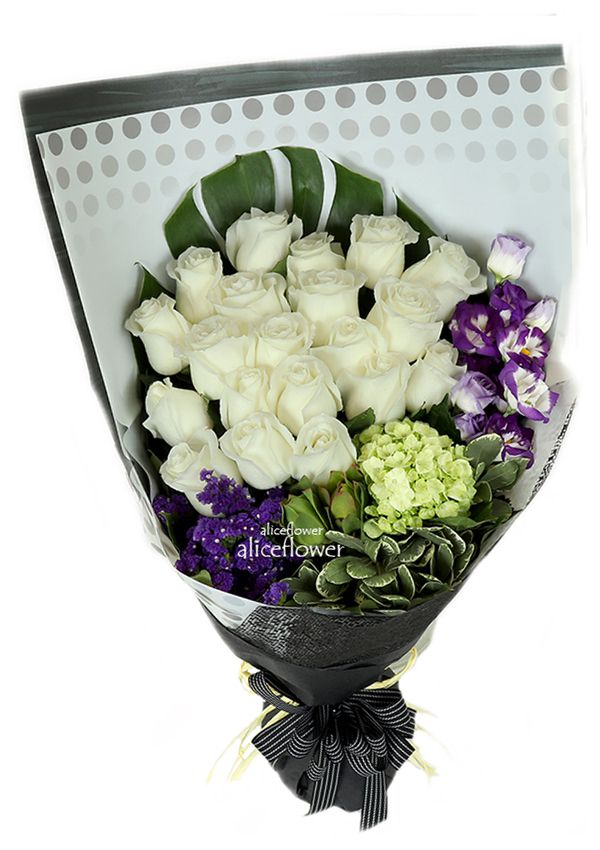 Autumn Flowers,Pure Dream White Roses