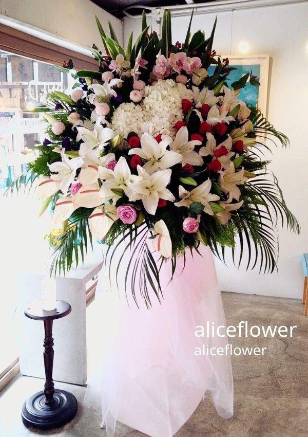 Opening Flowers and Gifts-Congratulations Standing Spray, Alice Florist Taipei, Taiwan.