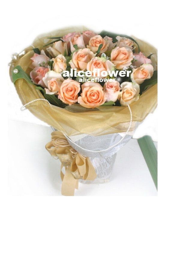 Autumn Flowers,Valentine Splendor Light Orange Roses