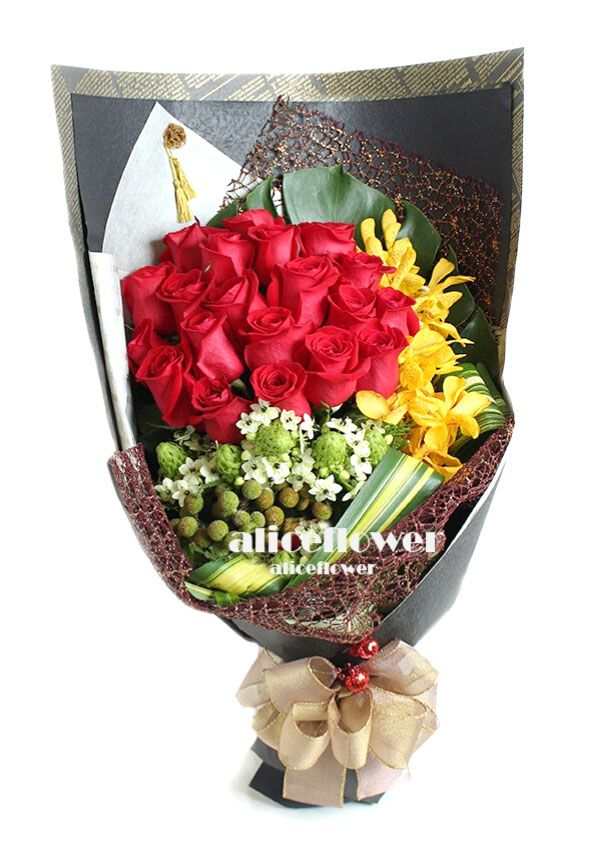 Valentine Bouquet,Love Romanticism Red Roses