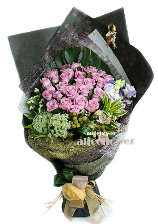 Valentine Bouquet,Purple Wish