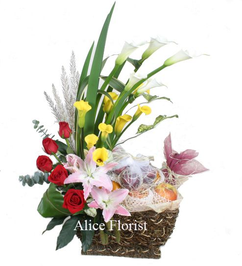 Autumn Flowers,Fruit Basket