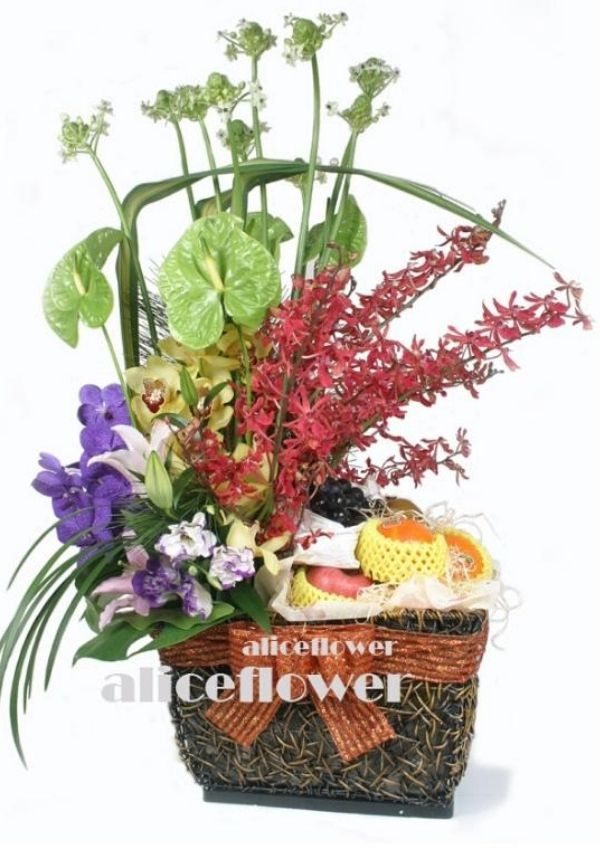 Autumn Flowers,Delight fruit basket