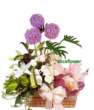 Get Well Flowers,Fruit Basket MO003