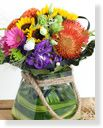 Spring Bouquets in Vase,Colorful garden