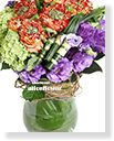 Imported Roses Bouquet in Vase,Garden rose