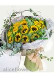 Sunflower-Sunshine blooming,Alice Florist Taipei Taiwan.