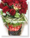 Lunar New Year Flower Arranged,Scarlet Splendor Roses