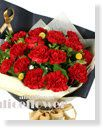 Mother´s Day Imported Carnation Bouquet-Red Collection,Alice Florist Taipei Taiwan.