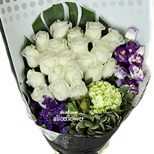 Import Roses Bouquet - Pure Dream, Alice Florist Taipei, Taiwan.