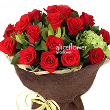 Chinese Valentine Bouquet-Love Passion.-Alice Florist Taipei, Taiwan.