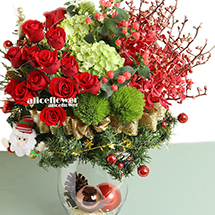 Christmas Gift-Christmas good . This ultimate gift arrives in one large gift box to send your warmest season´s greetings across the miles.!-Alice Florist Taipei.