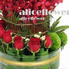 Import Rose arranged flower - Summer Delight, Alice Florist Taipei, Taiwan.