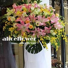 Opening Flowers and Gifts-Best Wish Standing Spary, Alice Florist Taipei.