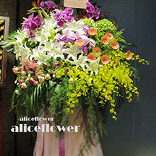 Opening Flowers and Gifts-Wedding Standing Spary, Alice Florist Taipei.
