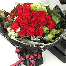Chinese Valentine  Bouquet-Bulas Love.  It is a one-of-a-kind keepsake symbolizing boundless love.  -Alice Florist Taipei, Taiwan.