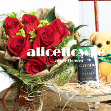 11.11 Singles' Day Bouquets-Honey baby- Alice Florist Taipei, Taiwan.