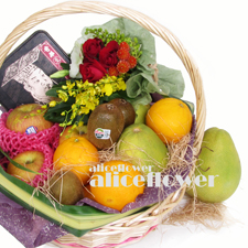Moon Festival Fruit Baskets-Autumn Delicious, Alice Florist Taipei, Taiwan.