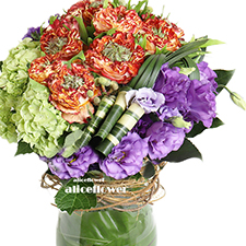 Thanksgiving Flowers and Gifts- Garden rose-Alice Florist Taipei, Taiwan.