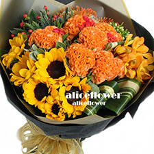 Teacher´s Day flowers-Orange sunshine , Alice Florist Taipei, Taiwan.