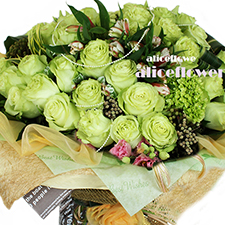 11.11 Singles' Day Bouquets- Green star dream-Alice Florist Taipei, Taiwan.