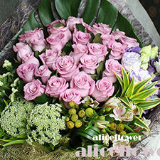 Birthday bouquet-Purple Wish,Alice Florist Taipei Taiwan.